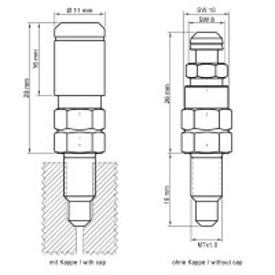 Stahlbus Entl/üftungsventil extra gro/ß M8 x 1,25 x 22 mm